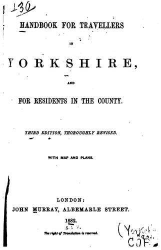 Handbook for travellers in Yorkshire by John Murray (Firm)