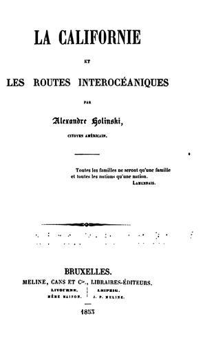 Download La Californie et les routes interocéaniques.