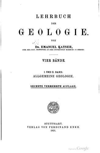 Lehrbuch der geologie.