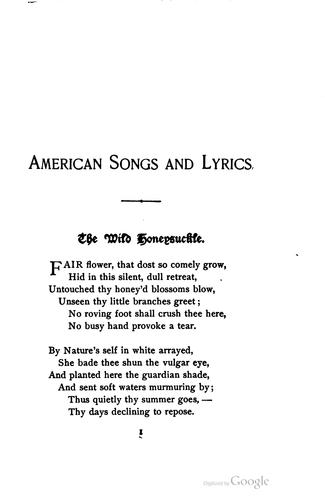 Download The golden treasury of American songs and lyrics