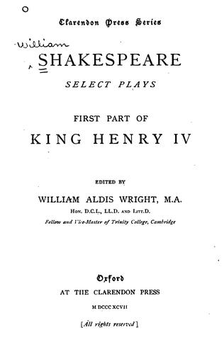Download First Part of King Henry IV