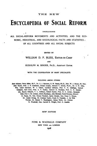 Download The new encyclopedia of social reform
