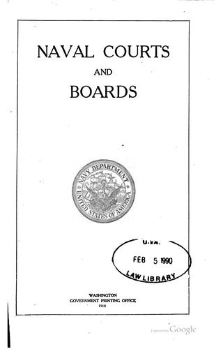 Download Naval courts and boards.