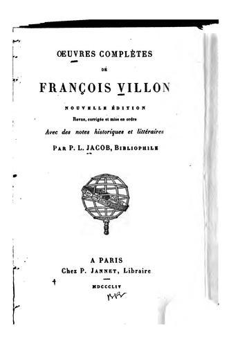 Oeuvres complètes de François Villon