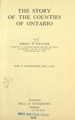 Download The story of the counties of Ontario