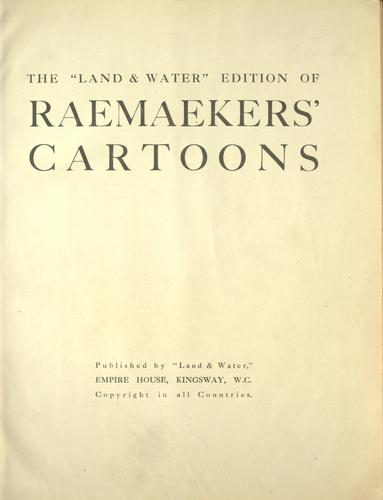 "The ""Land & water"" edition of Raemaekers' cartoons."