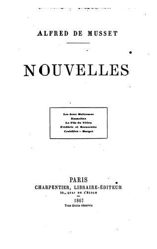 Nouvelles de Alfred de Musset