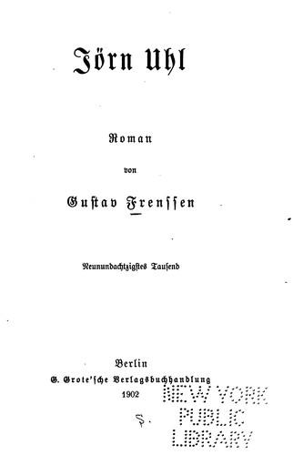 Jórn Uhl: Roman