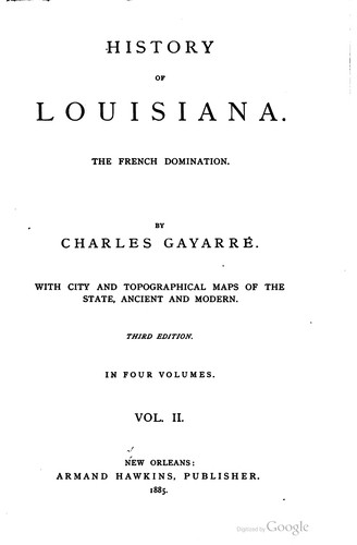 History of Louisiana.