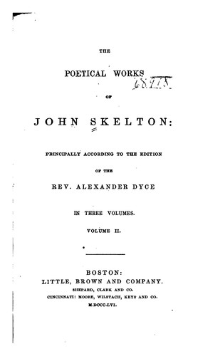 The poetical works of John Skelton