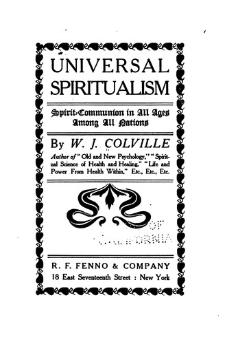 Download Universal spiritualism