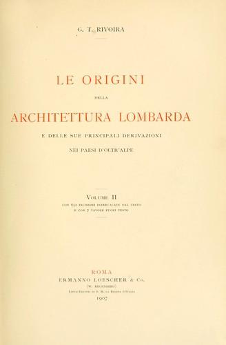 Le origini della architettura lombarda