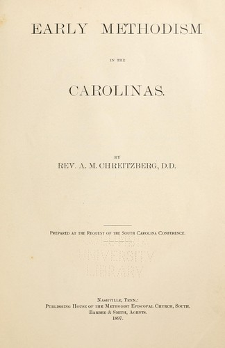 Download Early Methodism in the Carolinas.