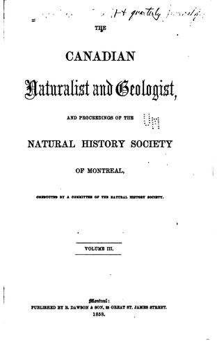 The Canadian Naturalist and Geologist