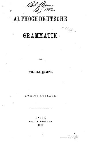 Althochdeutsche Grammatik
