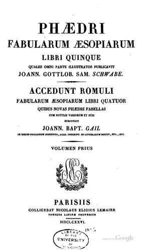 Download Fabularum Æsopiarum libri quinque