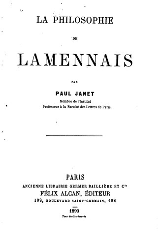 Download La philosophie de Lamennais