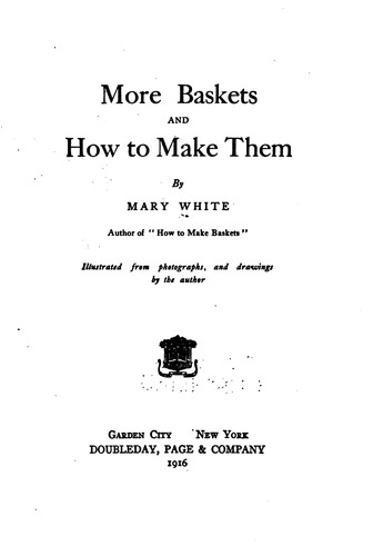 Download More baskets and how to make them