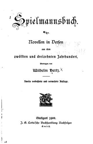 Spielmannsbuch.