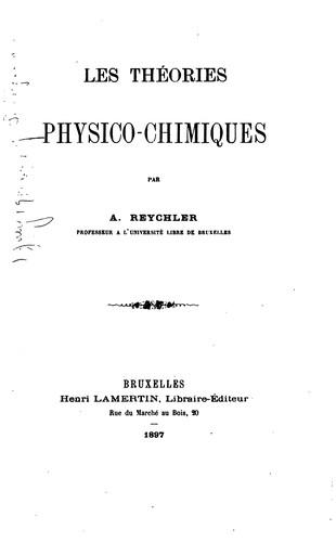Download Les théories physico-chimiques