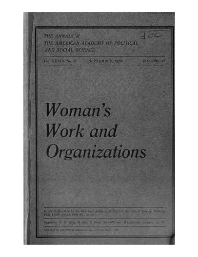 …Woman's work and organizations