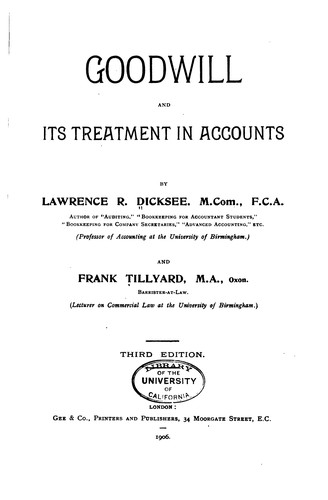 Download Goodwill and its treatment in accounts