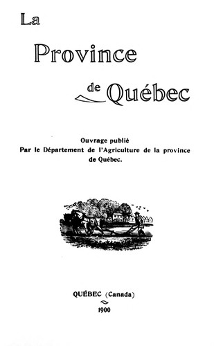 Download La province de Québec