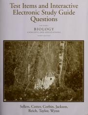 Cover of: Test items and interactive electronic study guide questions for Starr's Biology | Larry G. Sellers