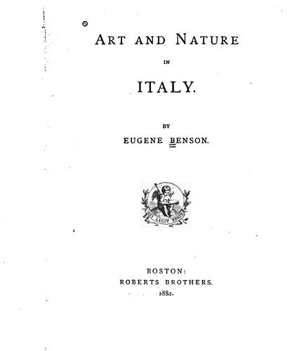 Art and Nature in Italy by Eugene Benson