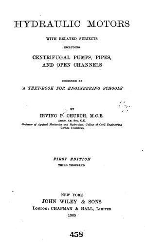 Hydraulic Motors by Irving P. Church