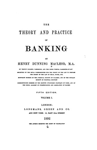 The Theory and Practice of Banking by