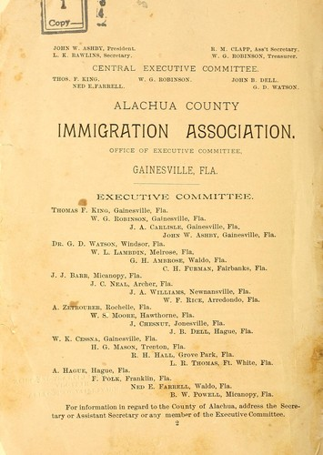 Alachua, the garden county of Florida, its resources and advantages by J. W. Ashby