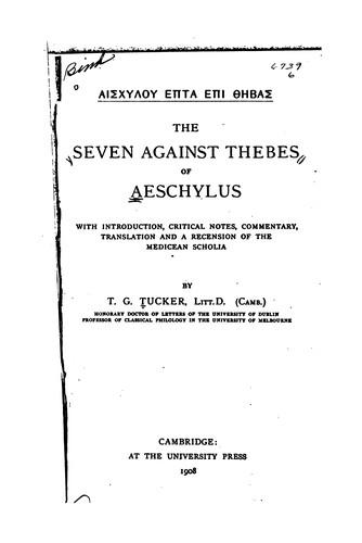 Seven against Thebes.